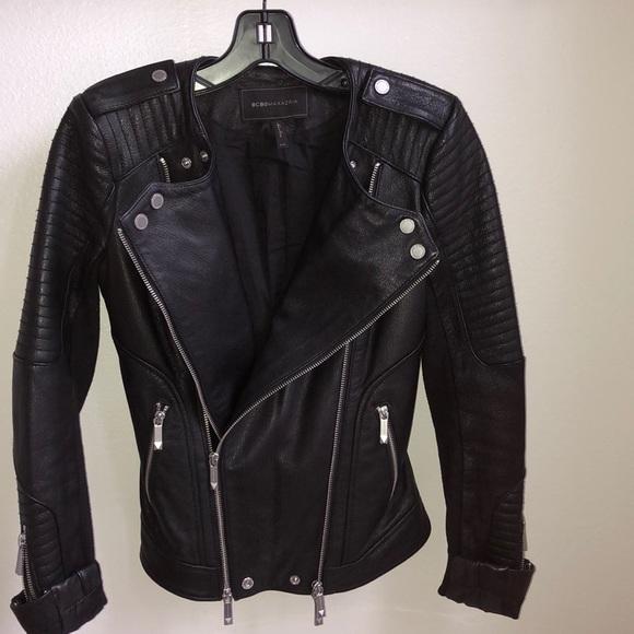 BCBGMaxAzria Jackets & Blazers - BCBG 🔥 Black leather jacket